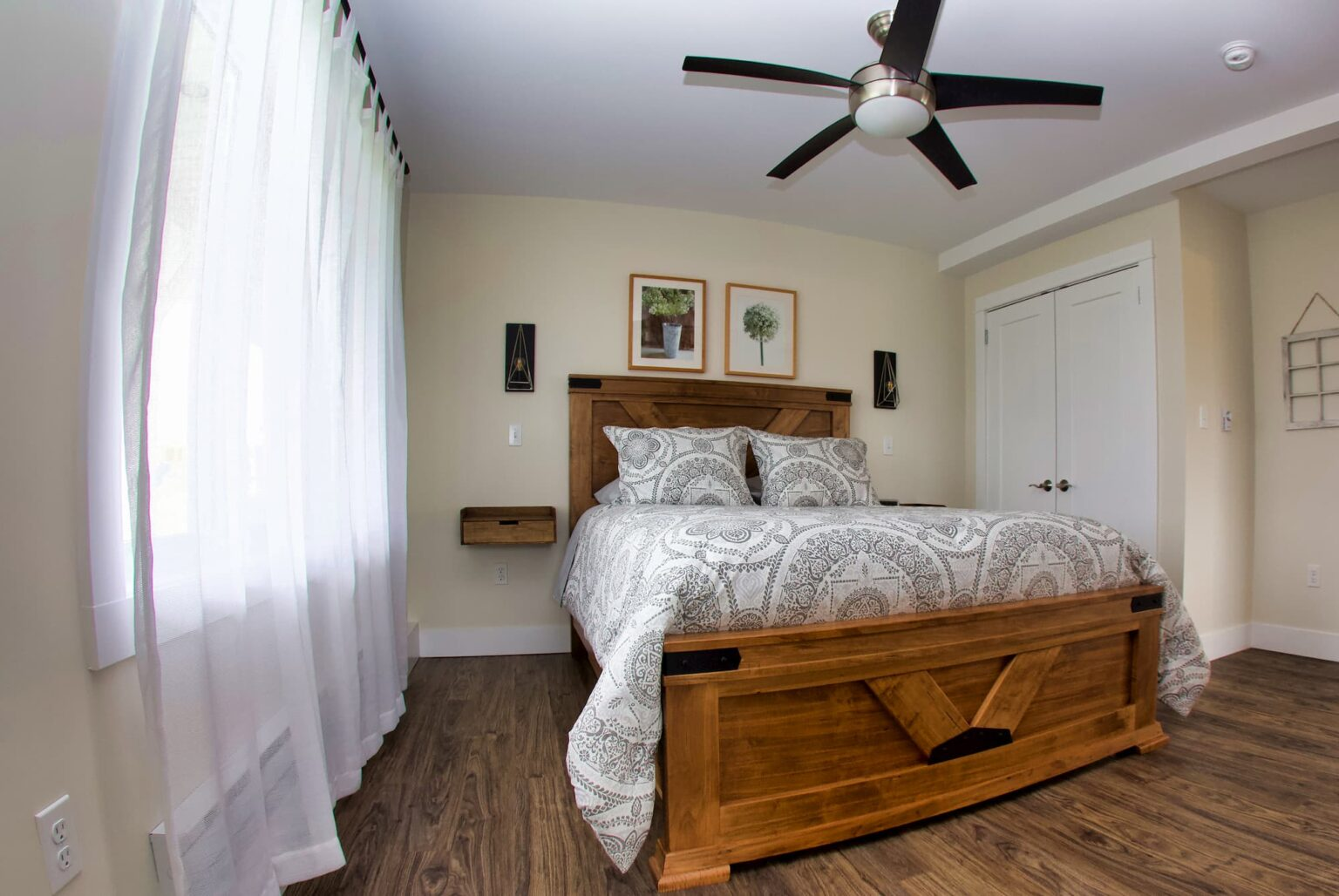 View of the bedroom at Beausoleil Vineyards Guest House