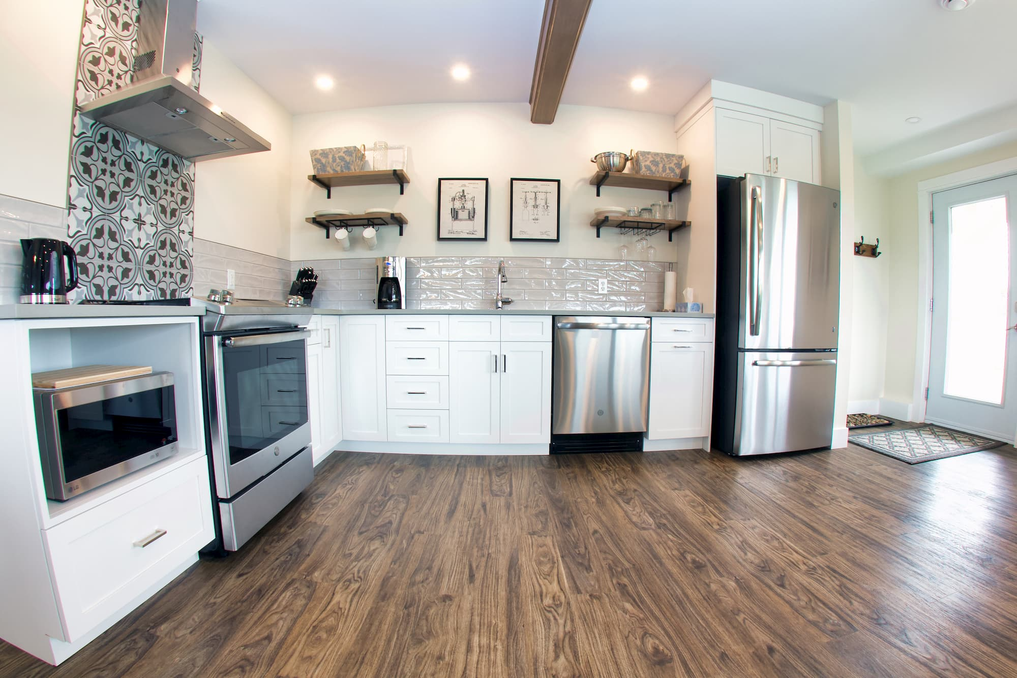 Fully equipped kitchen at Beausoleil Vineyards Guest House