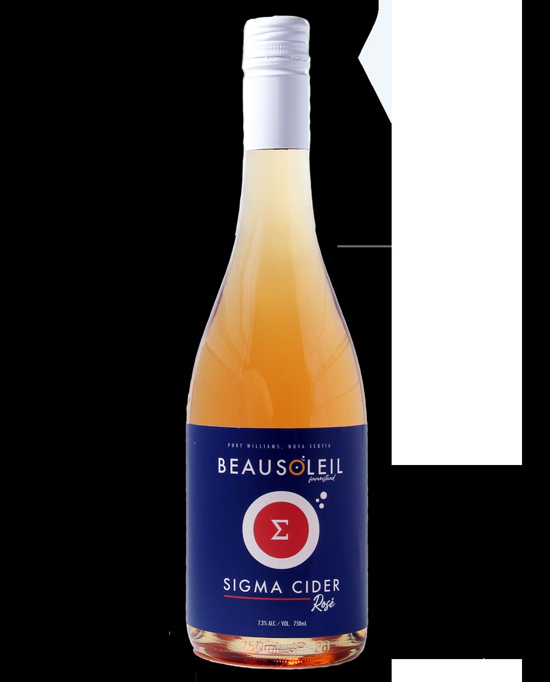 Photo: Bottle of Beausoleil Farmstead Sigma Cider Rose